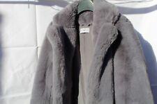 Womens Coat Textured Weaved Winter Fur Collar Jacket Size 10 12 14 16 8 Black
