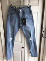 NWT Levi's Premium Lot 512 Slim Taper Blue Jeans Big E LEJ RARE Size 30 x 32