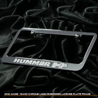 New chrome plated Hummer H2 Hummvee license plate cast zinc frame front rear