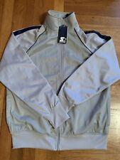 Mens Starter Zip Up Jacket Windbreaker Gray Adult Size Medium