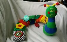 2001 Discovery Toys Caterpillar Snail Rattle Plush Baby Toy Interactive 30""