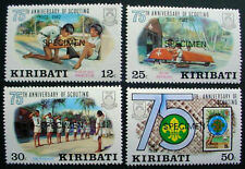 KIRIBATI 1982: SPECIMEN: 75th ANNIVERSARY OF SCOUTING: SET OF 4 MNH  STAMPS