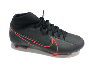 Nike, Women's Superfly 7 Academy FG Black/Red Soccor Cleats, Size 6.5M
