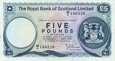 Scotland Royal Bank P-337 5 pounds 1981 Unc with stains