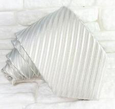 Cravatta grigio chiaro 100% seta Made in Italy matrimoni business  RP € 39