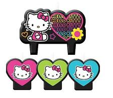 Hello Kitty Tween Neon Birthday Candle Cake Topper Set 4 Pieces Per Package New