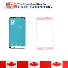 Samsung Galaxy Note 3 Pink Front Glass Lens And Adhesive Sticker