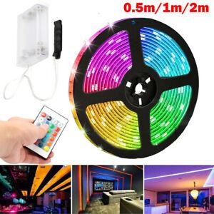 LED Stripe Streifen Leiste 5050 Batterie Lichterband TV Hintergrundbeleuchtung