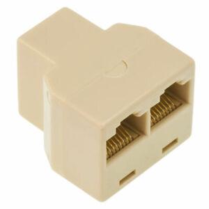 NEW RJ45 Ethernet LAN Network Y Splitter 2 Way Adapter 3 Ports Coupler Connector