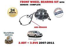 FOR CHRYSLER GRAND VOYGER 2.8TD 3.8 V6 2007> FRONT WHEEL BEARING + ABS SENSOR