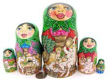 Originale Russo Matrioska bambole NUDE 5 BANYA FAMIGLIA SAUNA regali firmati