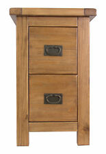 Petite 2 Drawer Pine Bedside Lacquer Finish