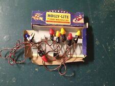 Vintage retro 110-120V Holly Lite 7 Christmas tree fairy lights