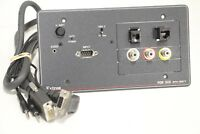 Extron RGB 500 Series Gray Interface with Audio ADSP 33-511-01 with Cable