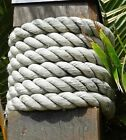 20 ft 1.5 inch Heavy Double Braid Nylon Rope Vintage Nautical Decor Lobster Boat