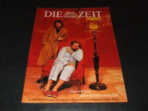 """Wolfgang Niedecken & Julian Schnabel … 1997 … cover … """"Die ZEIT magazin"""""""