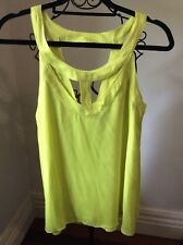 T by Bettina Liano Size 8 citrus colour Dressy sheer Top Brand New With Tags