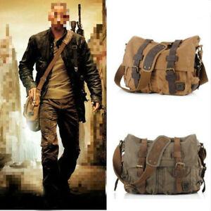 I Am Legend M L XL School Bag Vintage Canvas Leather Travel Shoulder Messenger