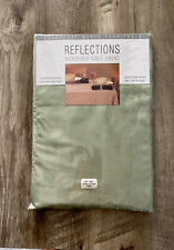 """Refections Fabric Microfiber Tablecloth Wipes Clean 60""""x84"""" Oval Sage Green"""