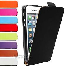 Genuine Leather Slim Leather Flip Case Cover For Apple iPhone 5 5S SE