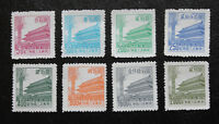 China 1950 Stamps: 8 Stamps Full Set of R7 Tien An Mun Unused