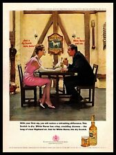 1961 The White Horse Cellar Scotch Whisky Sconces Barometer Vintage Print Ad