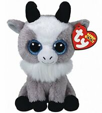 "Ty 6"" Gabby the Goat Beanie Boos Plush Stuffed Animal NWMT's New w/ Heart Tags"