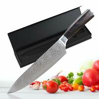 """8"""" inch Professional Chef Knives Damascus Kitchen Knife New"""