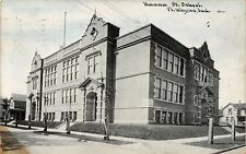 Fort Ft Wayne Indiana~Hanna Street School~Houses~1912 CU Williams Photoette PC