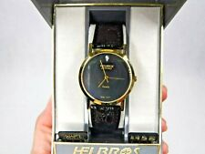 Vintage Helbros Invincible Quartz Diamond Watch Original Box NEW