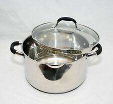 Cepa 24CM Acero Inoxidable & pour Cazuela Olla Tapa de cristal Olla Inducción Utensilios de cocina