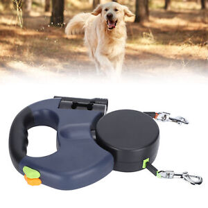 Retractable Pet Dog Double Lead Leash Rope Dual 2 Dogs Walking Reflective Leash