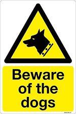 Attenzione al cani Cartello 10x15cm pericolo di avvertimento Autoadesivo Adesivo Vinile