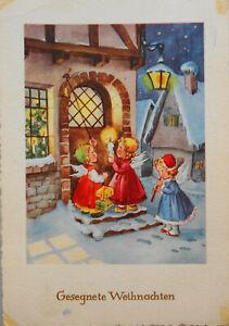 FABIG DISTLING - 3 ENGEL läuten an WEIHNACHTEN an der Tür - 1957