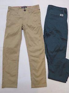 Boys designer trouser chino slim leg 2 3 5 6 7 8 9 10 13 14 15 16 years RRP £49
