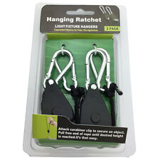 1 Pair 1/8 Heavy Duty Adjustable Hydroponics Rope Ratchet Light Reflector Hanger