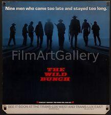 THE WILD BUNCH 1969 Rare Advance NYC transit poster Sam Peckinpah filmartgallery