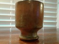 "Vintage A. R. Cole Sanford NC Frog Glaze 3 1/8"" Tall Cup Incised Circle Mark"