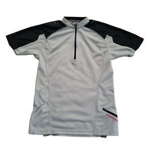 Bontrager Cycling Jersey Shirt Mens Size Small Black Gray Quarter Zip