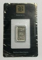 1/10 oz London Baird & Co .9995 Fine Platinum Bar in Assay Card