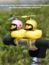 Novelty Mini Cute Rubber Duck Bell&Helmet&Fan Blade Bike Motocycle Handlebar