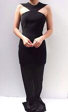 AQ AQ Black Keyhole Cut Out Monica Maxi Evening Party Dress 8 36 US 4 New
