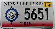 Indianer Nummernschild USA/Spirit Lake Tribe! 9864.