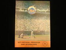 July 4, 1971 Atlanta Braves @ NY Mets Program - Hank Aaron HR off Tom Seaver