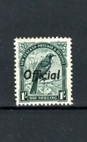 New Zealand 1937 1s Official opt MH