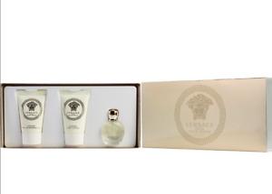 Versace Eros Pour Femme 3pcs Mini Gift Set (0.17ozEDP+0.8ozBL+0.8ozSG) NIB.