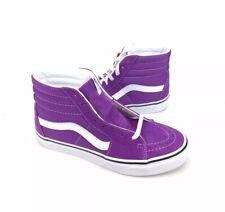 NEW Vans Sk8 Hi Skate Shoes Sneakers Dewberry Purple True White Womens Size 7
