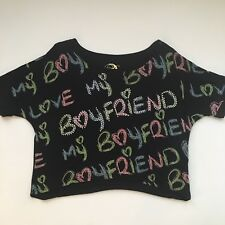 4ff8779e7517a Love My Boyfriend Crop Top Size XL By Desiree Since Forever Embellished  Bling