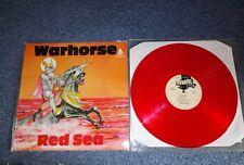 """Warhorse - red sea - 12""""lp reissue 1984 vgc+/ex+ red vinyl deep purple"""