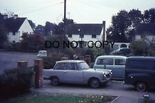 35mm COLOUR SLIDE - 1960s or 70s - TRIUMPH HERALD ON DRIVE WITH OTHER VEHICLES
